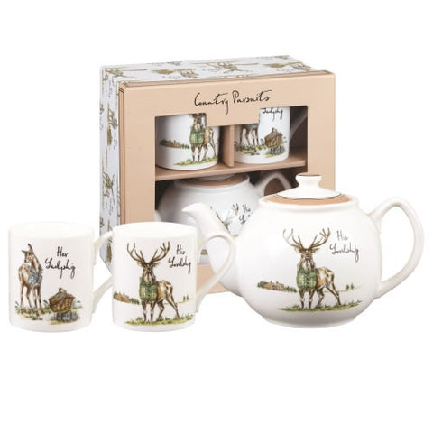 Churchill China Country Pursuits Tea for Two Gift Set