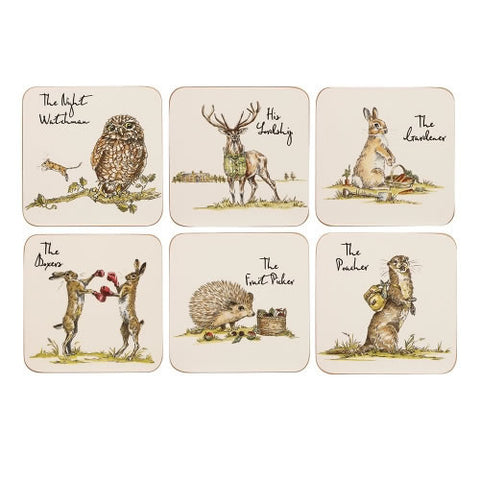 Churchill China Country Pursuits Coasters 10cm (Set of 6)