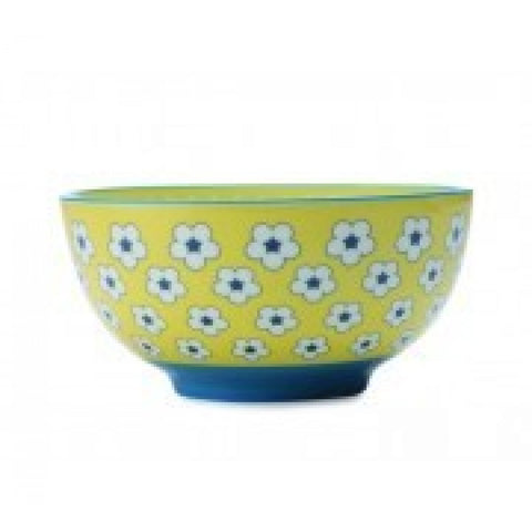 Christopher Vine Cotton Bud Yellow Cereal Bowl 15.5cm