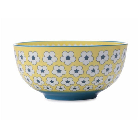 Christopher Vine Cotton Bud Yellow Cereal Bowl 18cm