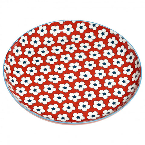 Christopher Vine Cotton Bud Red Salad Plate 23cm