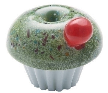 Caithness Glass Pistachio Cupcake Paperweight 8.5cm