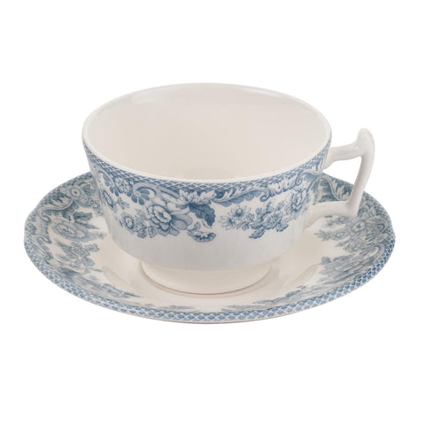 Spode Delamere Lakeside Teacup and Saucer 0.2L (Set of 4)