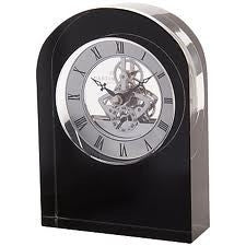 Dartington Crystal Black Curve Clock 15cm