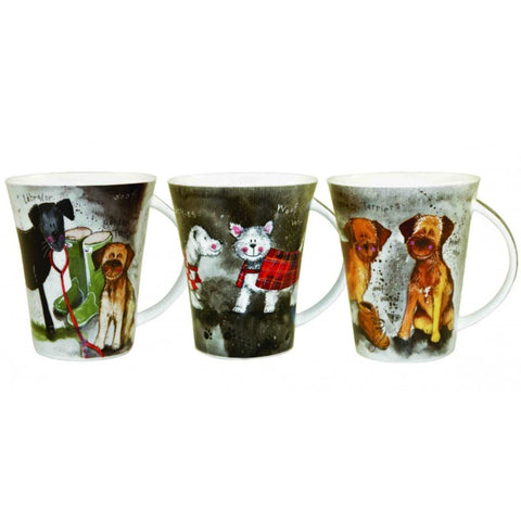 Alex Clark Dogs Mug 0.37L (Set of 6)