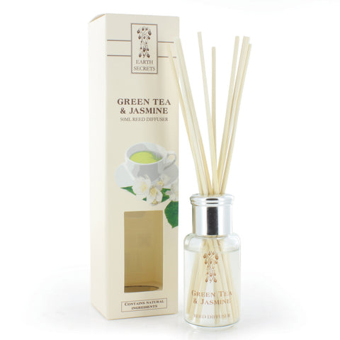 Earth Secrets Reed Diffusers Green Tea and Jasmine Reed Diffuser 0.05L