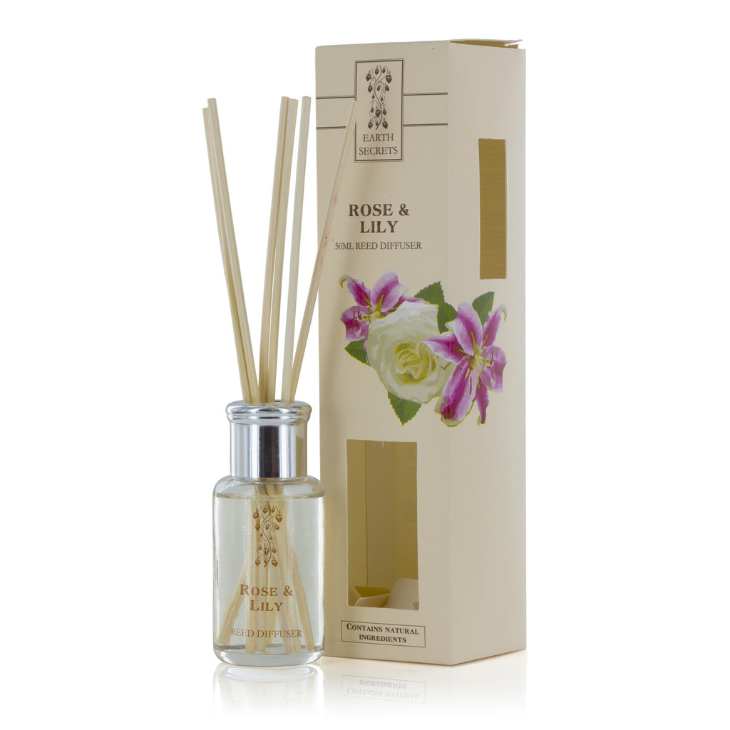 Earth Secrets Reed Diffusers Rose and Lily Reed Diffuser 0.05L