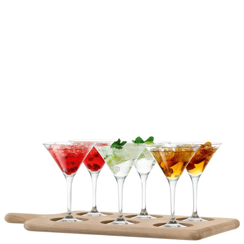 LSA Paddle Clear Cocktail Set & Oak Paddle 47cm