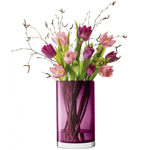 LSA Flower Colour Heather Cylinder Vase 25cm