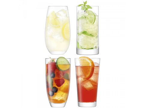 LSA Lulu Assorted Highball Tumbler (Set of 4)