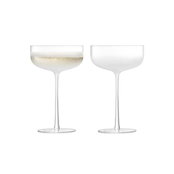 LSA Mist Part Frost Champagne/Cocktail Saucer 220ml (Set of 2)