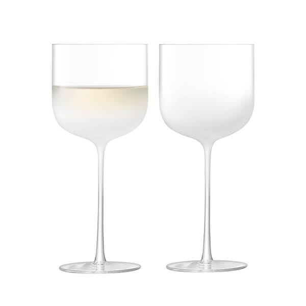 LSA Mist Part Frost Wine Glass 375ml (Set of 2)