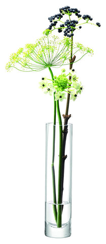 LSA Column Slim Vase 25cm by 6cm