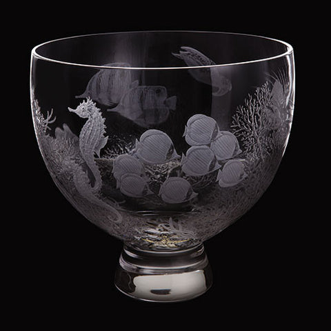 Dartington Crystal Gallery Large Coral Reef Bowl