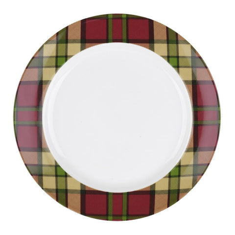 Spode Glen Lodge Red Tartan Salad Plate 20cm (Set of 4)