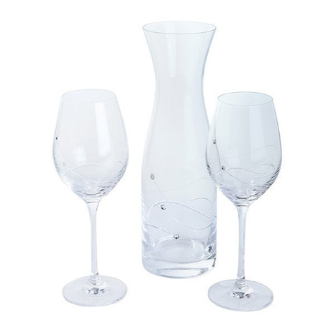 Dartington Crystal Glitz Carafe And Wine Glasses Set