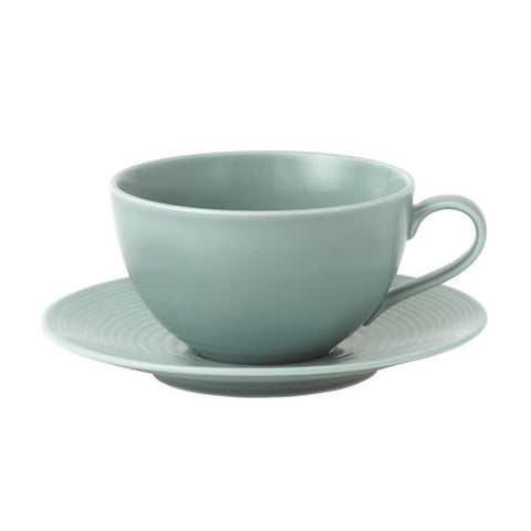 Royal Doulton Gordon Ramsay Maze Teal Breakfast Cup and Saucer 500ml