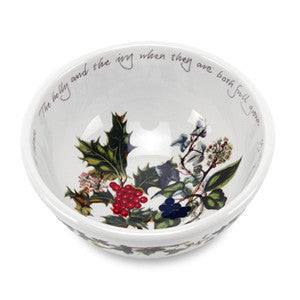 Portmeirion Holly and Ivy Fruit Salad Bowl 14cm (Set of 6)