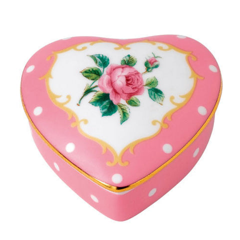Royal Albert Accessories Cheeky Pink Heart Box
