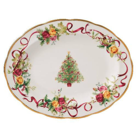 Royal Albert Old Country Roses Christmas Oval Platter 35cm