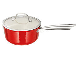 Stellar Easy Lift Cast Iron Red Saucepan 20cm