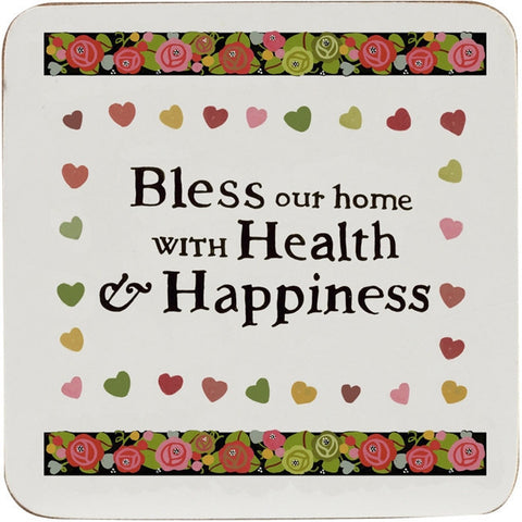 Churchill China Julie Dodsworth Health and Happiness 4 Coasters 10cm