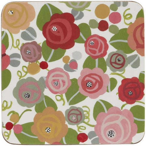 Churchill China Julie Dodsworth Floral Romance Set of 4 Coasters 10cm