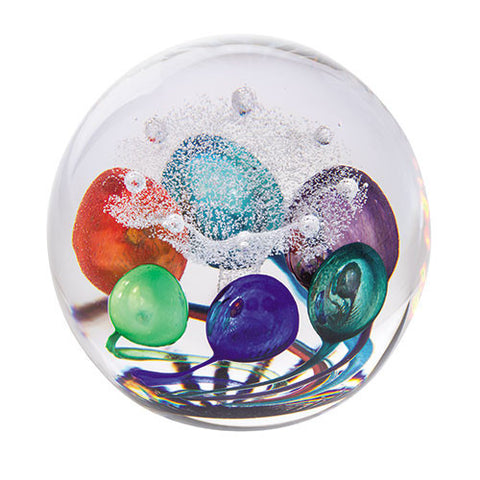 Caithness Glass Abstract Colour Splash Paperweight