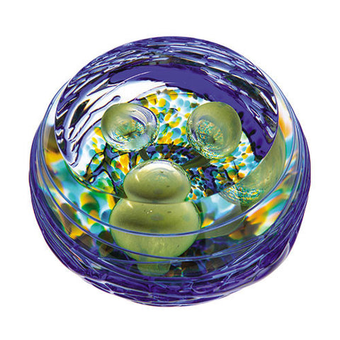 Caithness Glass Abstract Green Nesting Paperweight