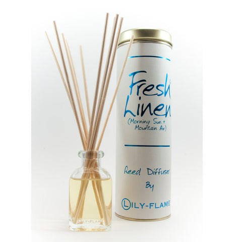 Lily Flame Fresh Linen Reed Diffuser
