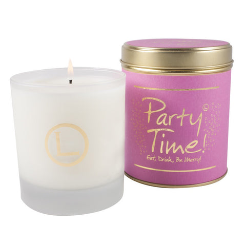 Lily Flame Party Time! Glassware Candle