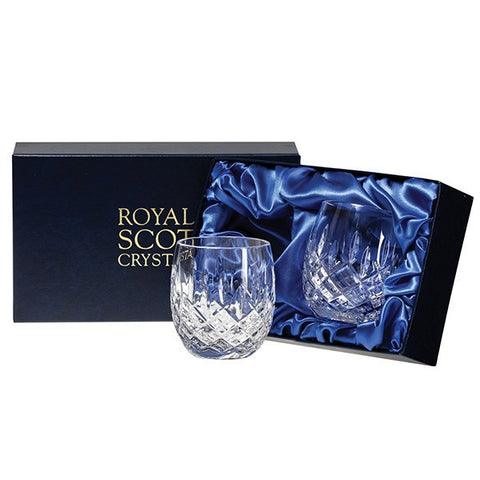 Royal Scot Crystal London Barrel Tumbler (Pair)