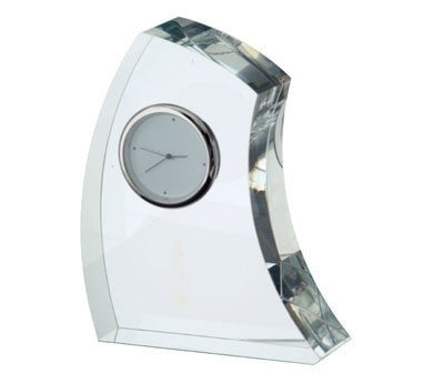 Dartington Crystal Large Crescent Clock 13cm