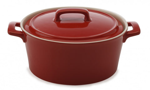 Maxwell and Williams Chef du Monde Red Round Casserole Dish 1.7L
