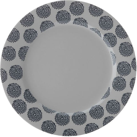 Maxwell and Williams Print Indigo Dinner Plate 27.5cm