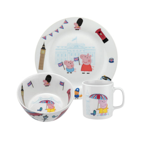 Portmeirion Peppa Pig London 3 Piece Gift Set