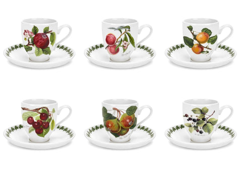 Portmeirion Pomona Coffee Cup and Saucer 0.11L (Set of 6)