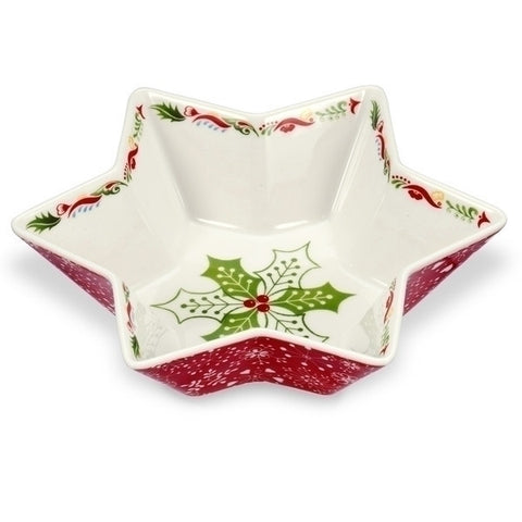 Portmeirion Christmas Wish Deep Star Dish 20cm
