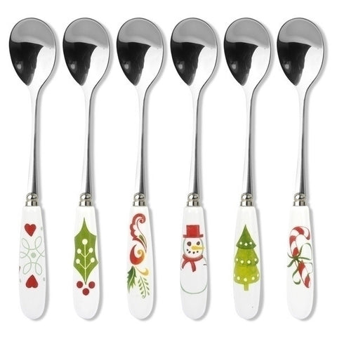 Portmeirion Christmas Wish Cutlery 6 Tea Spoons 15cm