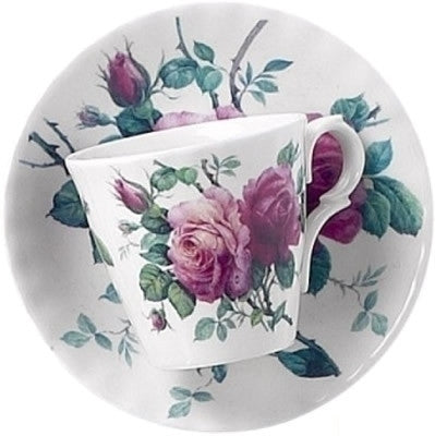 Roy Kirkham English Rose Espresso Cup and Saucer