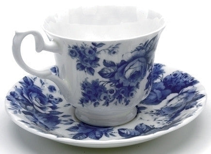 Roy Kirkham Blue Chintz Teacup (Teacup Only)
