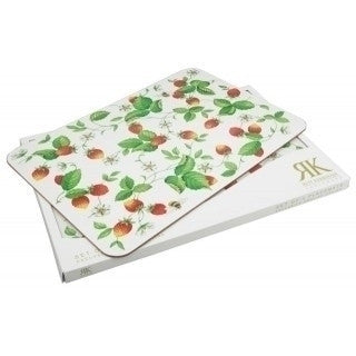 Roy Kirkham Alpine Strawberry Plastic Placemat 45cm by 30cm (Single)