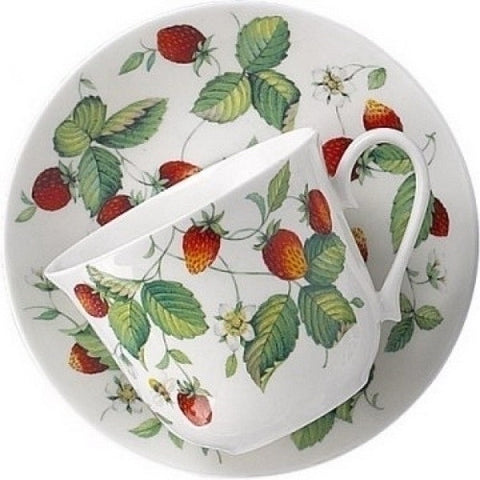 Roy Kirkham Alpine Strawberry Chatsworth Breakfast Cup and Saucer 480ml