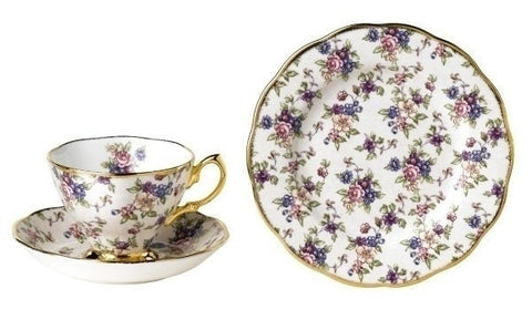 100 Years Of Royal Albert Teas 1940 English Chintz 3 Piece Set