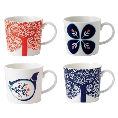 Royal Doulton Fable Accents Set 4 Mugs 400ml