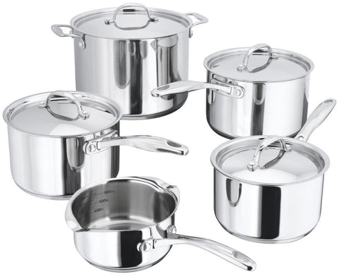 Stellar 7000 5 piece Saucepan Set 14/16/18/20cm & 24cm S/Pot