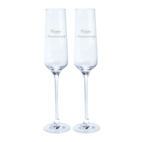 Dartington Crystal Just For You Happy Anniversary Champagne Flute 0.19L (Pair)