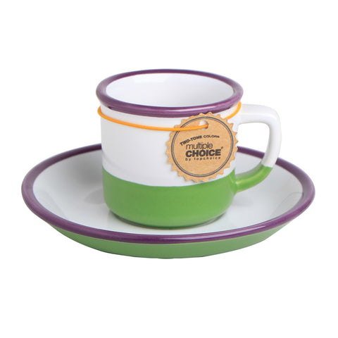 Multiple Choice Green Teacup And Saucer