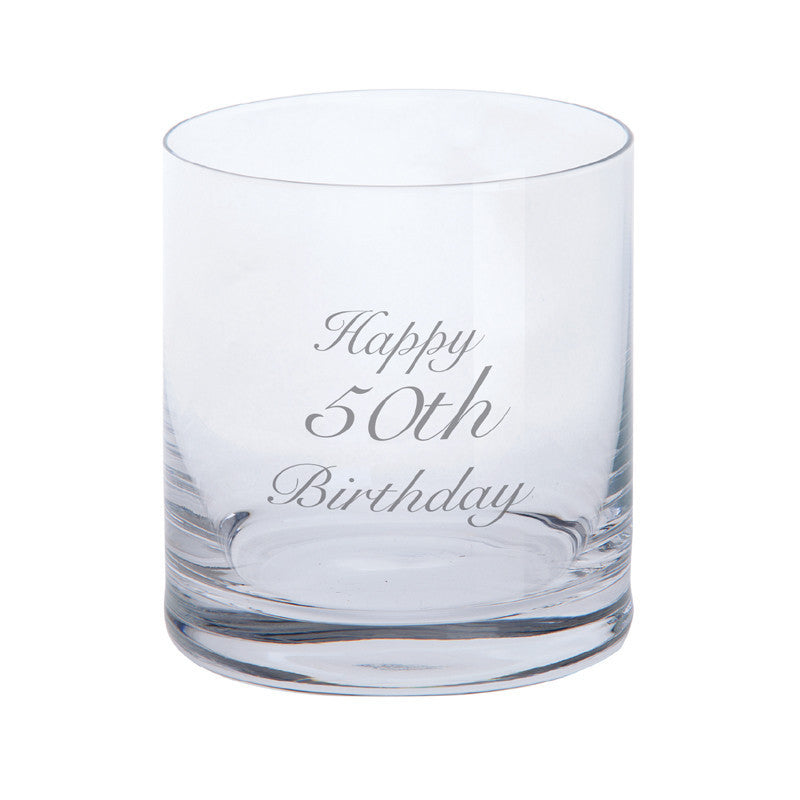 Dartington Crystal Just For You Happy 50th Birthday Tumbler 0.28L (Single)