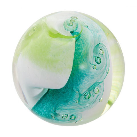 Caithness Glass Unlimited Lime Paperweight
